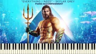 Skylar Grey - Everything I Need (Aquaman) (Piano Accompaniment Tutorial + Sheets)
