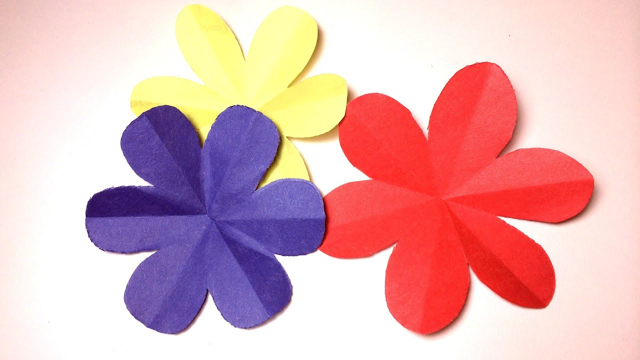 How to cut a perfect 6 petal flower --- DIY paper craft - YouTube