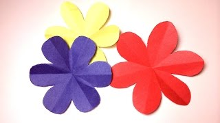 How to cut a perfect 6 petal flower --- DIY paper craft