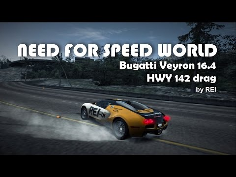nfs world bugatti veyron 16 4 hwy 142 drag youtube. Black Bedroom Furniture Sets. Home Design Ideas