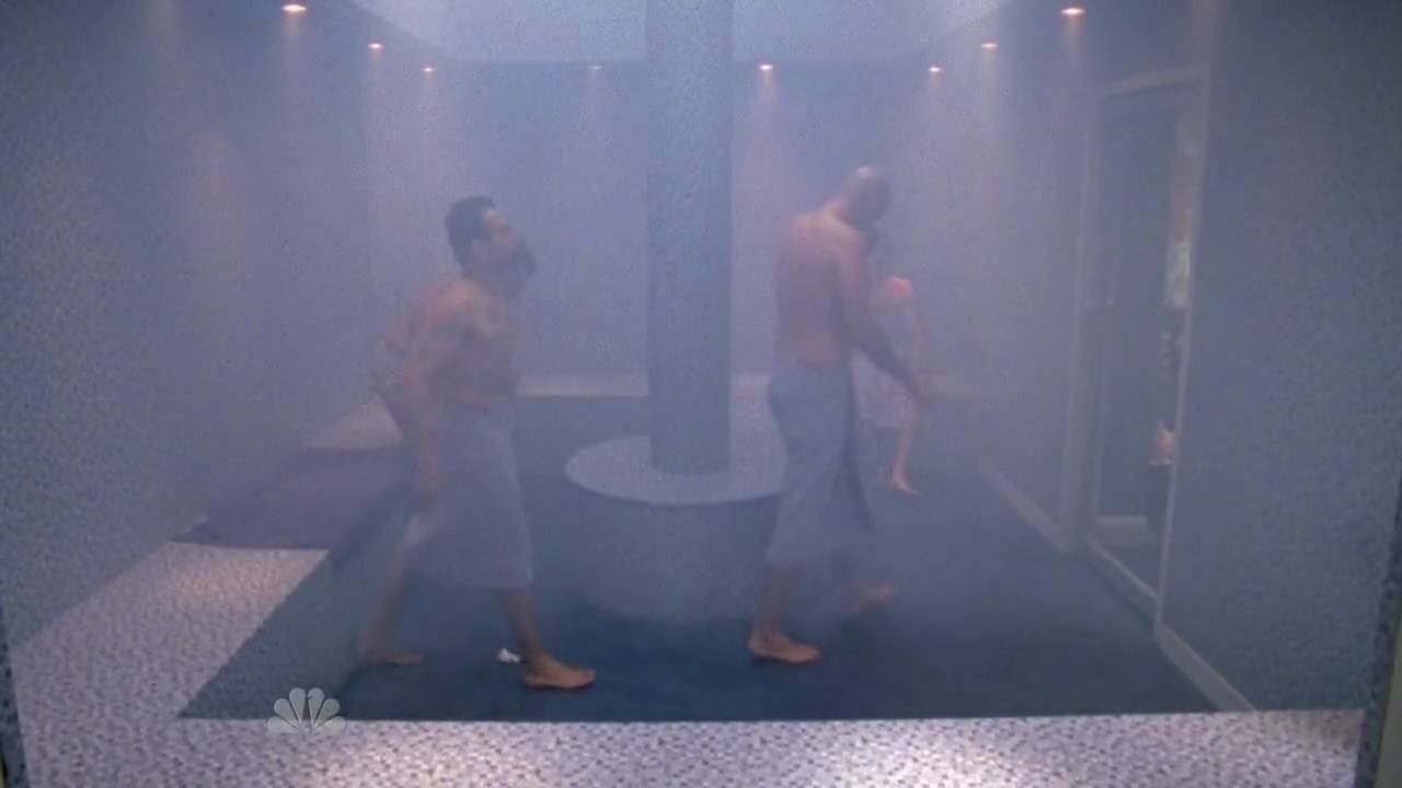 Chuck - Naughty Steam Room Fight [HD] 3x11 - YouTube