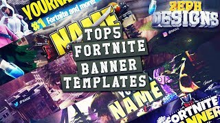 🎥 TOP 5 FREE Fortnite Banner Templates #1 | by ZephDesigns