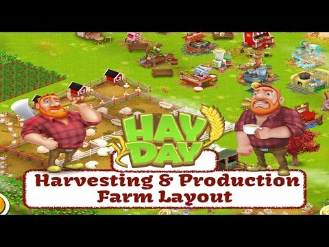 Hay Day Live - Harvesting & Production Farm Layout