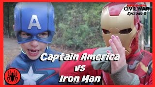 Little Heroes Iron Man vs Captain America In Real Life | Civil War Episode 6 | Superhero Kids