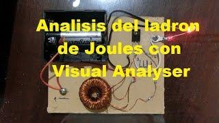 Analisis del ladrón de Joules o Julios (Joules Thief) con osciloscopio para PC