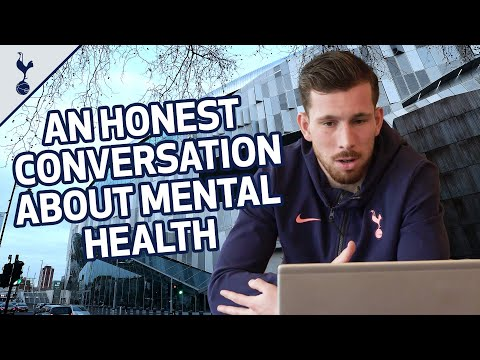 An honest conversation about mental health with Pierre-Emile Hojbjerg and local students