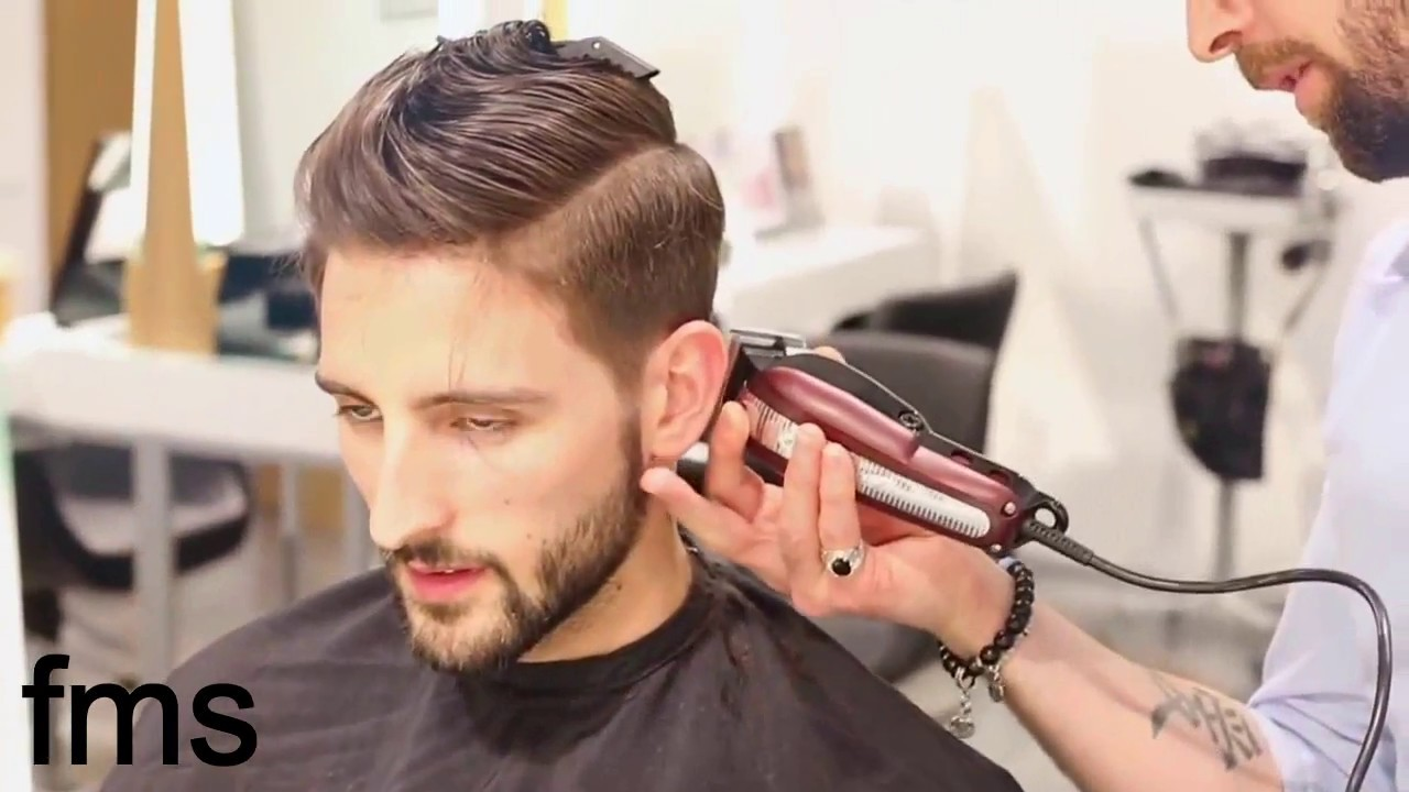 Men S Hairstyle New Haircut For Men And Shaving Bird Youtube