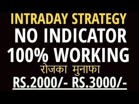 INTRADAY TRADING STRATEGY – 100% WORKING IN STOCK HINDI || BEST INTRADAY TRADING STRATEGY || 2019