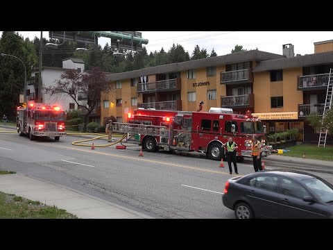 4K Apartment Structure Fire on St Johns Street. Port Moody, B.C. Canada