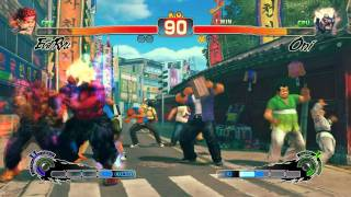 Super Street Fighter 4 IV AE PC gameplay Evil Ryu VS Oni on Max Settings