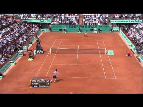 2010 French Open Final: Nadal vs. Soderling Higlights Part 1