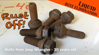 True rust removal by a chemist - Jeep Wrangler YJ bolts : Ep 5