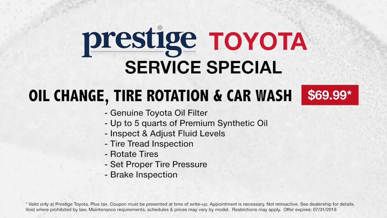 Prestige Toyota Of Ramsey Service July Oil Change Tire Rotation