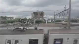 【東武スカイツリーライン】竹ノ塚駅付近一部高架化!西新井~草加間、左側車窓