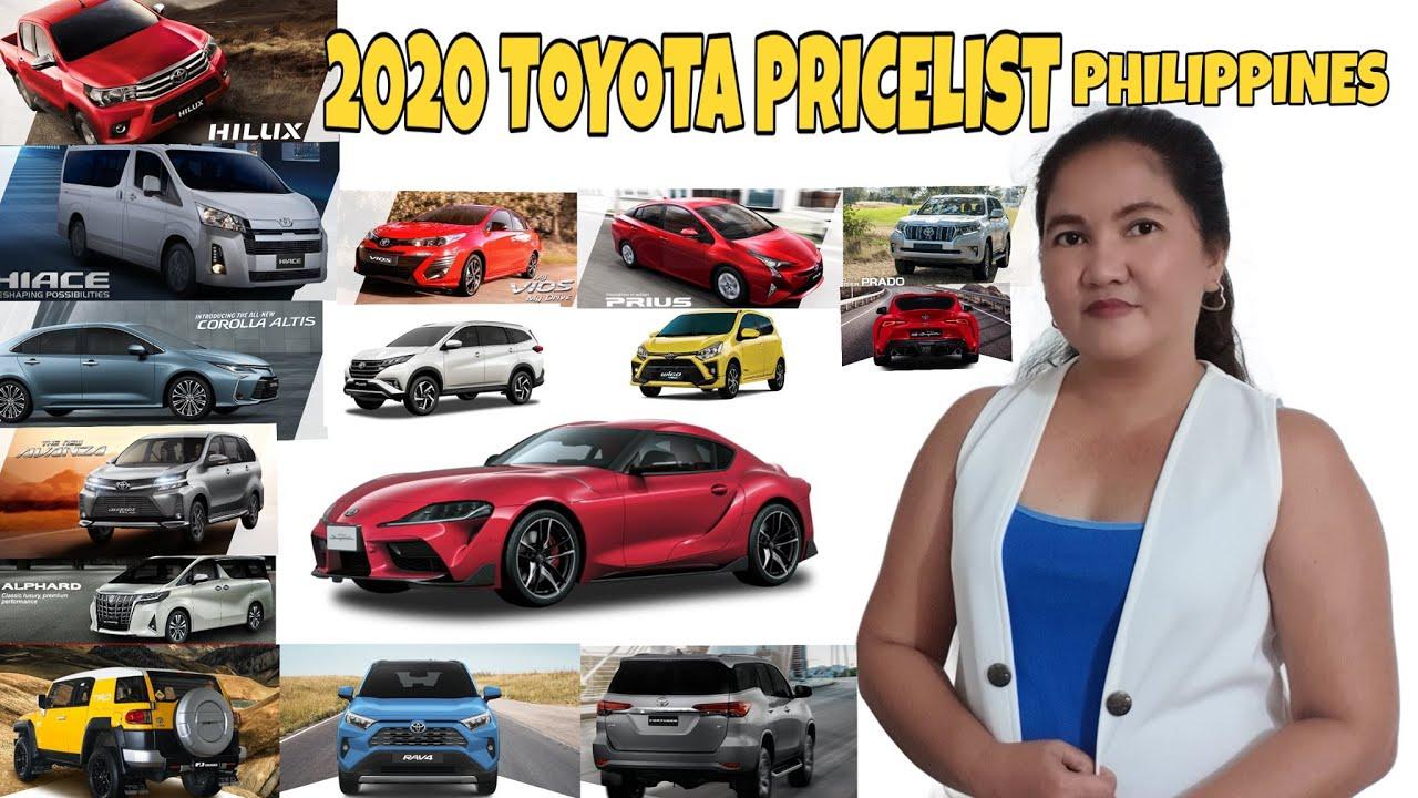 2020 Toyota Price List Philippines Youtube