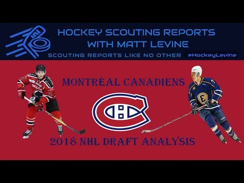 Stocking The Middle? | Montreal Canadiens 2018 NHL Draft Analysis