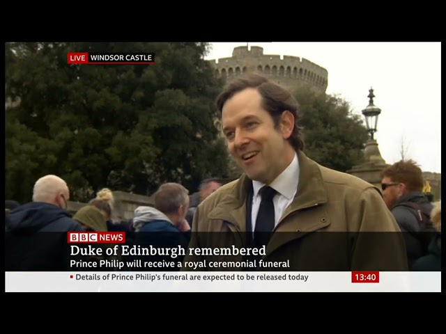 Dr David Staples, CEO of UGLE, discussing the Duke of Edinburgh's life in Freemasonry at Windsor