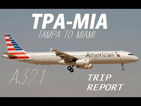 American Airlines Trip report: Tampa to Miami