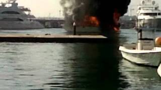 yacht on fire MUST SEE