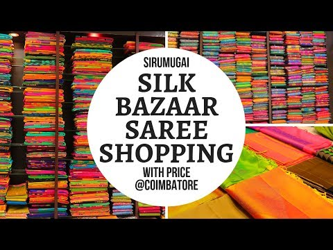 Wholesale and Retail Handloom/Silk Saree Shopping in Coimbatore || Sirumugai Silk Bazaar ||