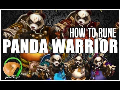 SUMMONERS WAR : How to Rune PANDA WARRIOR (Xiong Fei, Mo Long, Feng Yan, Mi Ying, Tian Lang)
