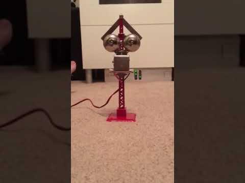 Model railroad crossing bell, G scale