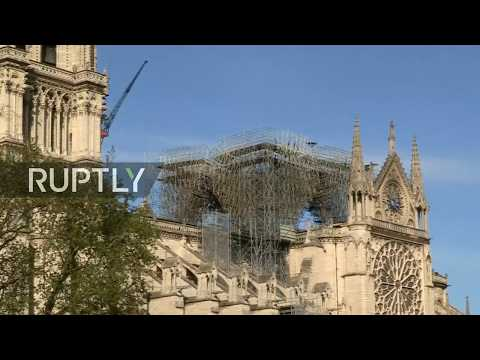 Live from Notre Dame as bells ring around France to express solidarity following fire