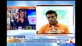 leopoldo lpez habla en ntn24 luego de las marchas en venezuela que dejan al menos un muerto