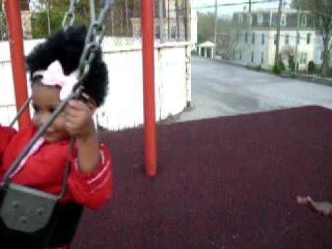 Sanaa Jael 19 months on swing, bossy 4 life