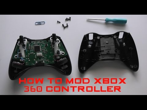 xbox 360 controller tuning modding teile unboxing um doovi. Black Bedroom Furniture Sets. Home Design Ideas
