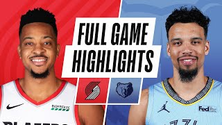Download TRAIL BLAZERS at GRIZZLIES   FULL GAME HIGHLIGHTS   April 28, 2021