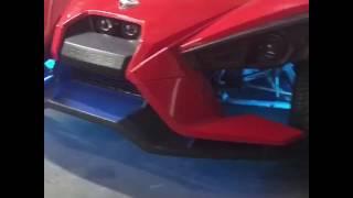 "Custom led lighting and 22"" wheels on a slingshot"