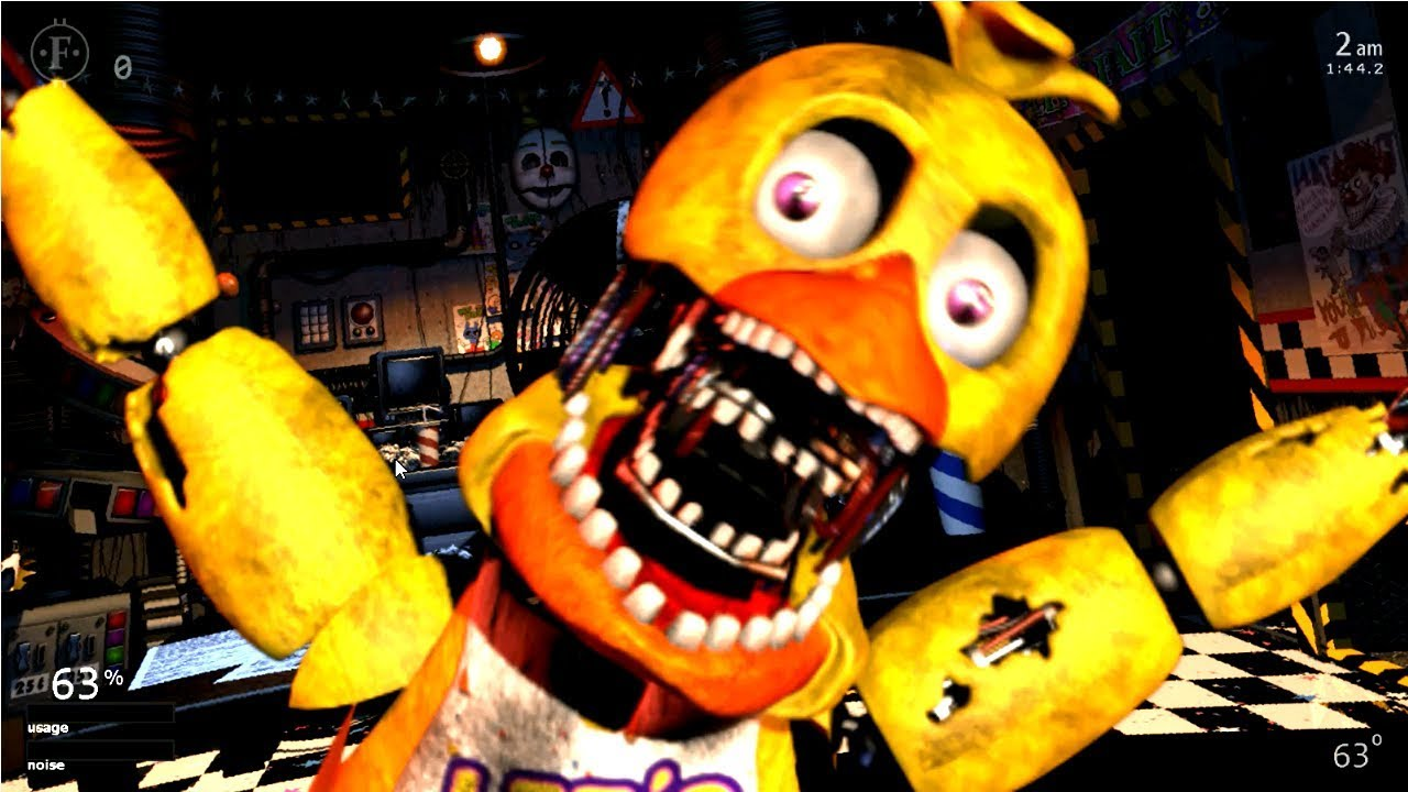 WItHERED CHICA JUMPSCARE!!! Ultimate Custom Night