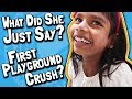 What Did She Just Say? // Little Girl's First Playground Crush / Flirt? 🙀