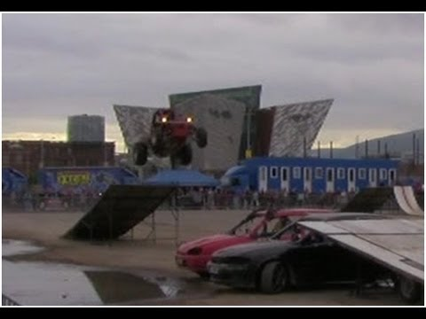 Extreme Stunt Show Titanic Quarter Belfast - Monster Truck Crash