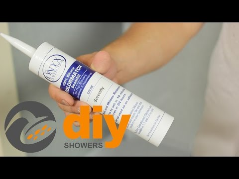 How to Apply Onyx Collection Shower Color-Match Silicone Sealant