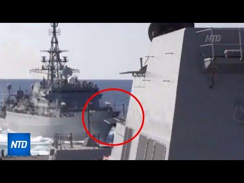 Russian Warship 'aggressively' Stalking US Navy Ship USS Farragut | NTDTV