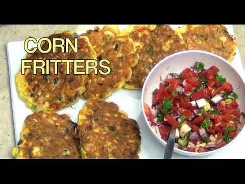 Corn Fritters cheekyricho easy video recipe episode 1,033