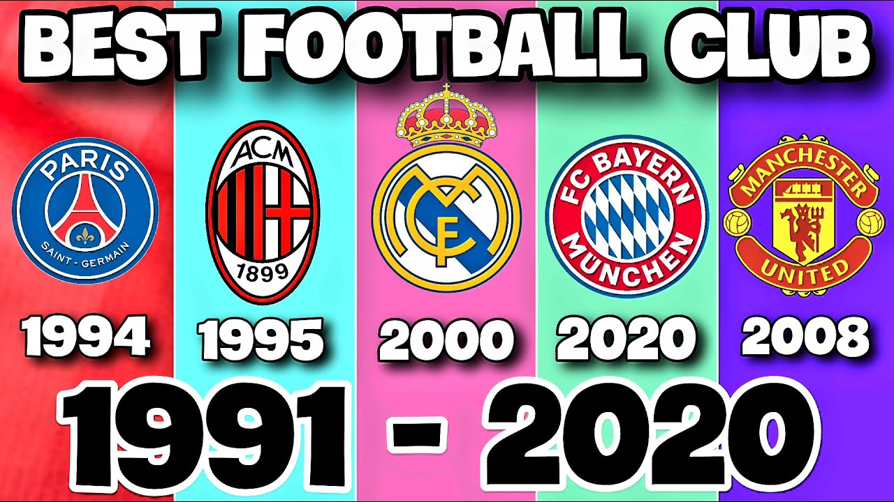 Top Football Clubs by IFFHS Ranking (1991 - 2020)