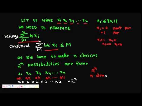 Programming Interview  0 1 Knapsack problem using Branch and Bound Method Part 1