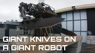 GIANT KNIVES ON A GIANT ROBOT (Simone Giertz Collab)