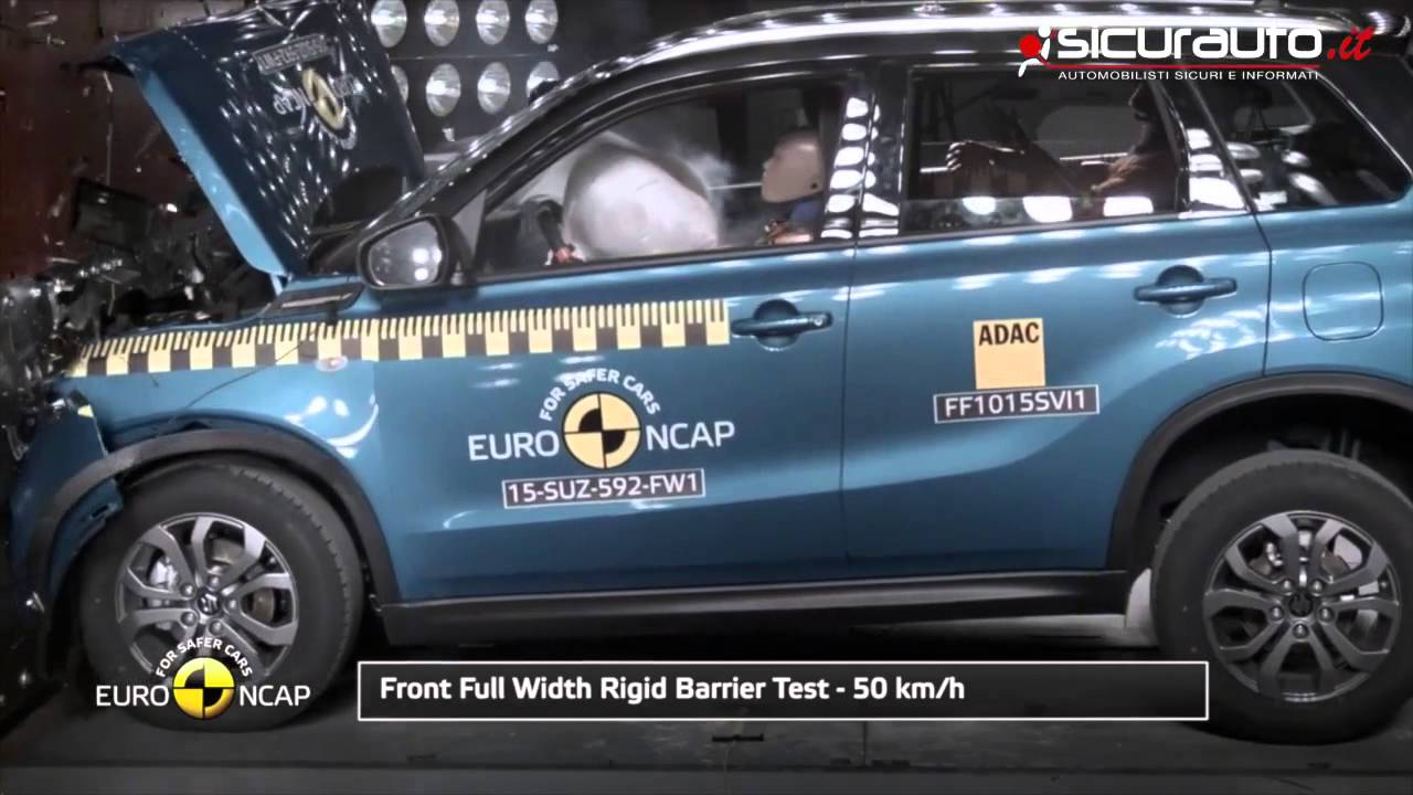 Suzuki Vitara Crash Test Euro Ncap Youtube