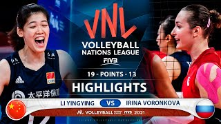 Li Yingying vs Irina Voronkova   China vs Russia   Highlights   VNL 2021 (HD)