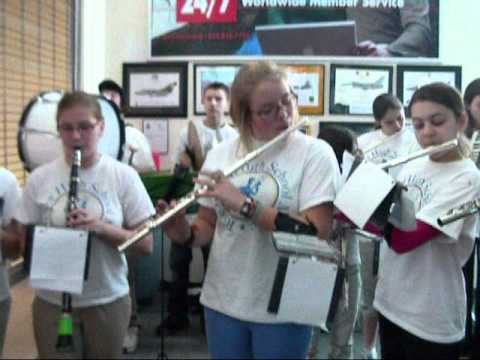 Pease Greeters - When The Saints Go Marching In - Rye Junior High School Band - 01-25-13