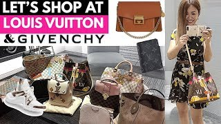 SHOP WITH ME AT LOUIS VUITTON u0026 GIVENCHY! | + LV UNBOXING! ???? | LUX SHOPPING VLOG ????