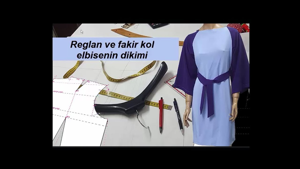 325f03560dd8c Reglan kollu elbise dikimi / Dress sewing - YouTube