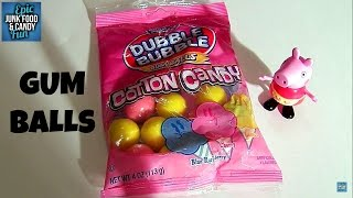 peppa pig dubble bubble cotton candy flavored gum kid candy review