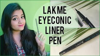 *NEW* Lakme Eyeconic Liner Pen | In-Depth Review | Demo | Fine Tip | Debaleena