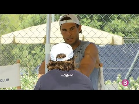 Rafael Nadal Practice and Interview in Mallorca, 23 June 2017