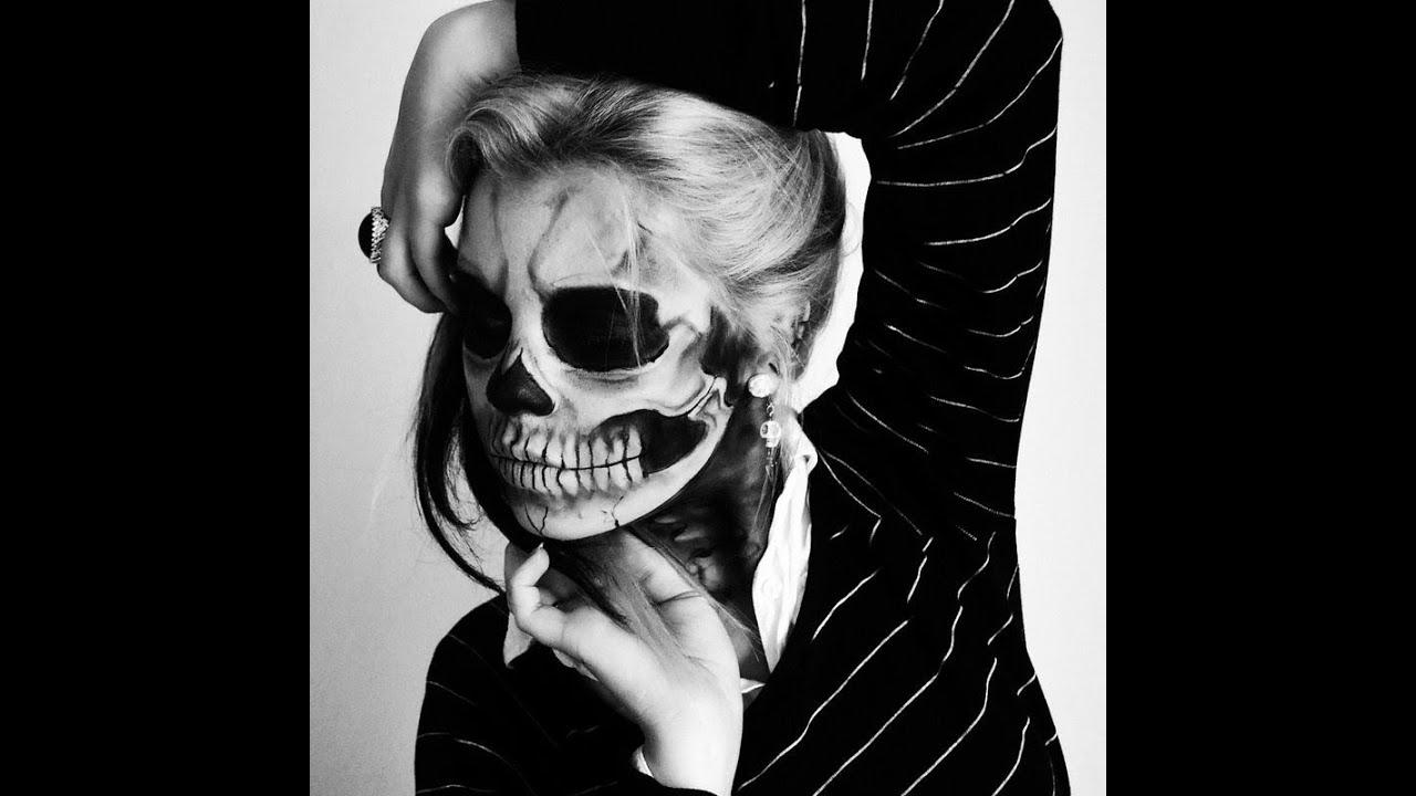 Lady Gaga Born This Way Skeleton Makeup Tutorial - YouTube
